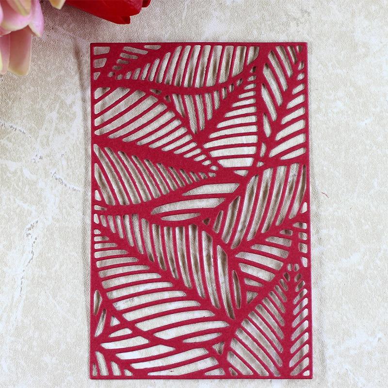 YLCD442 Leaf Pattern Metal Cutting Dies For Scrapbooking Stencils DIY Album Cards Decoration Embossing Folder Die Cuts Template