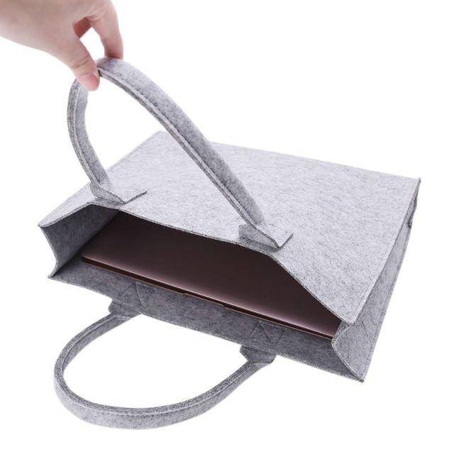 Thinkthendo unisex feminino portátil sentiu moda bolsa tote casual grande capacidade de armazenamento organizador bolsa de ombro novo 4