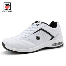 Apple men's small air cushion travel sport shoes Factory outlet spring autumn top Pu leather light leisure running shoes 9796