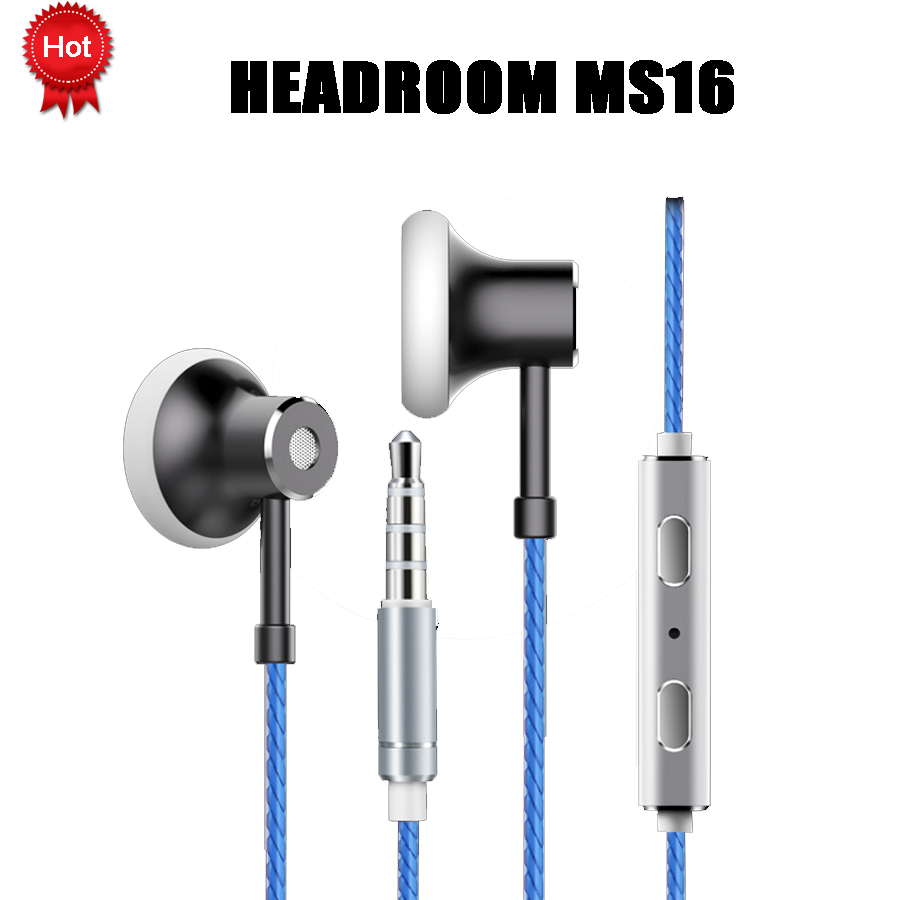 HEADROOM MS16 Earphone with Mic Sports Running Music HIFI Headset Women Man Earplugs Stereo Bass for iPhone 7 xiaomi MP3 Player langsdom a10 super bass in ear earphone hifi music earplugs metal headset with mic general for phone iphone xiaomi sony pc mp3