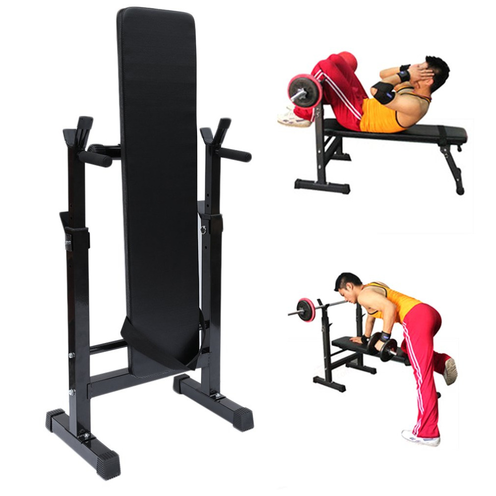 New Weight Training Bench With Barbell Shelf Fitness Exercise Home Gym Workout Weight Bench Dumbbell Barbell Lifting Training