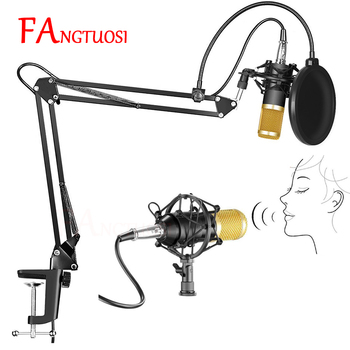 FANGTUOSI Professional bm 800 Studio Microphone bm800 Condenser Microphone Kits Bundle Karaoke Microphone Mic Stand For computer