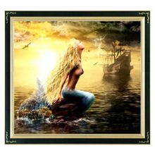 Cross-Stitch-Sets Embroidery-Kits DMC Counted Mermaid-Patterns Needlework DIY for Precise