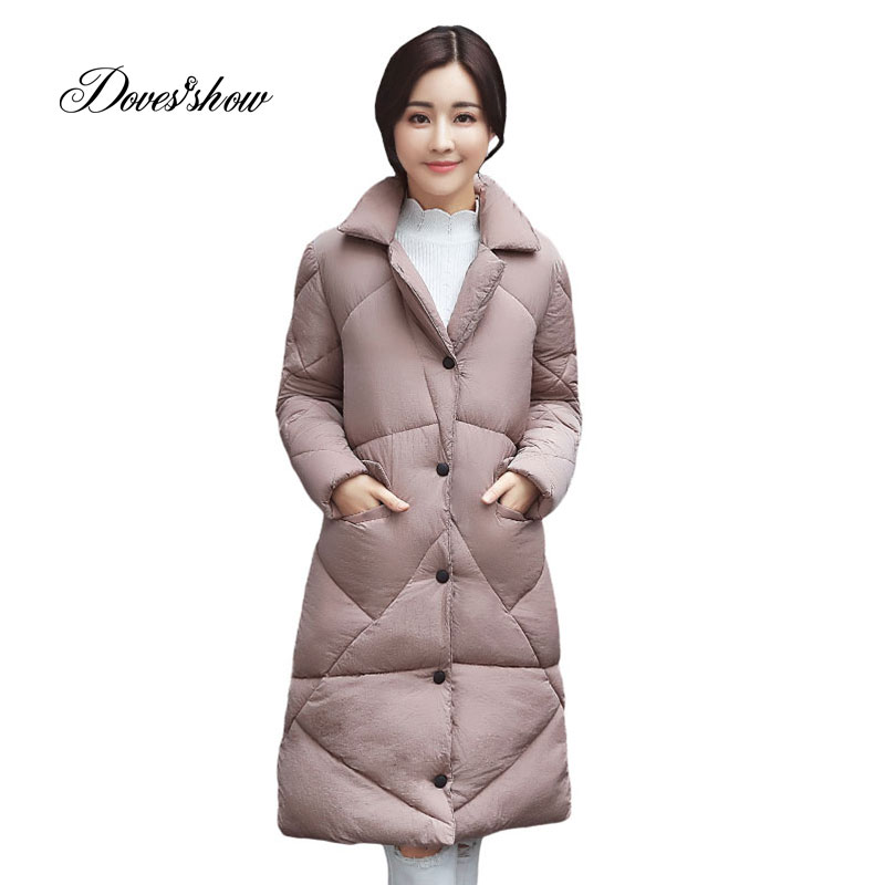 New Thin Autumn Winter   Down     Coat   Jacket Long Warm Slim Women Casaco Feminino Abrigos Mujer Invierno 2018 Parkas Outwear   Coats