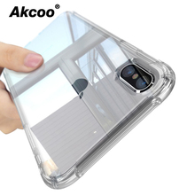 Akcoo anti shock soft TPU Cases for iPhone XS cover crytal clear reinfored corners bumper iphone Max 6 7 8 Plus case