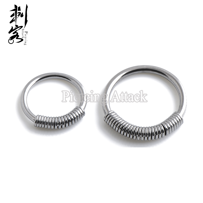 Steel Spring Wire Captive Ring Mixed Sizes BCR Body Piercing Jewelry