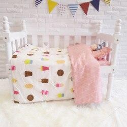 Leuke ijs Cot Bed Bedding Voor Kids Croth Om De Baby Beddengoed Set Voor Kinderen, dekbed/Laken/Kussen, met vulling