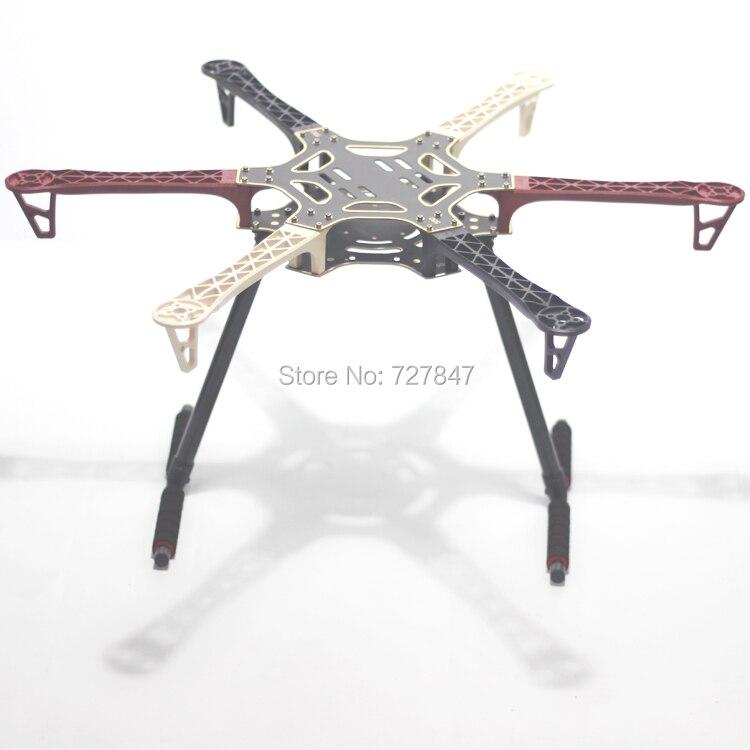 F550 550 mm Hexa Rotor Air Frame FlameWheel Kit With Carbon Fiber Landing Gear for KK