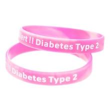 New Colour 1PC Medical Alert Bracelet Type 2 Diabetic Silicone Wristband