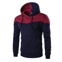 Mens Slim Pullover Hoodie Warm Hooded Sweatshirt Coat Jacket Outwear