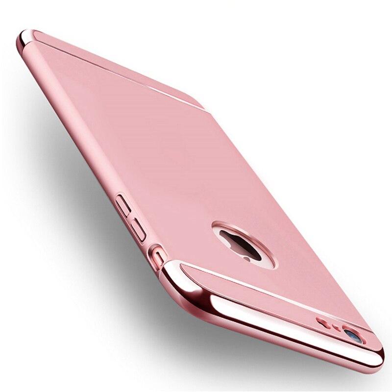 Para iphone 6s case lujo 3 in1 prueba de golpes armor duro móvil accesorios para