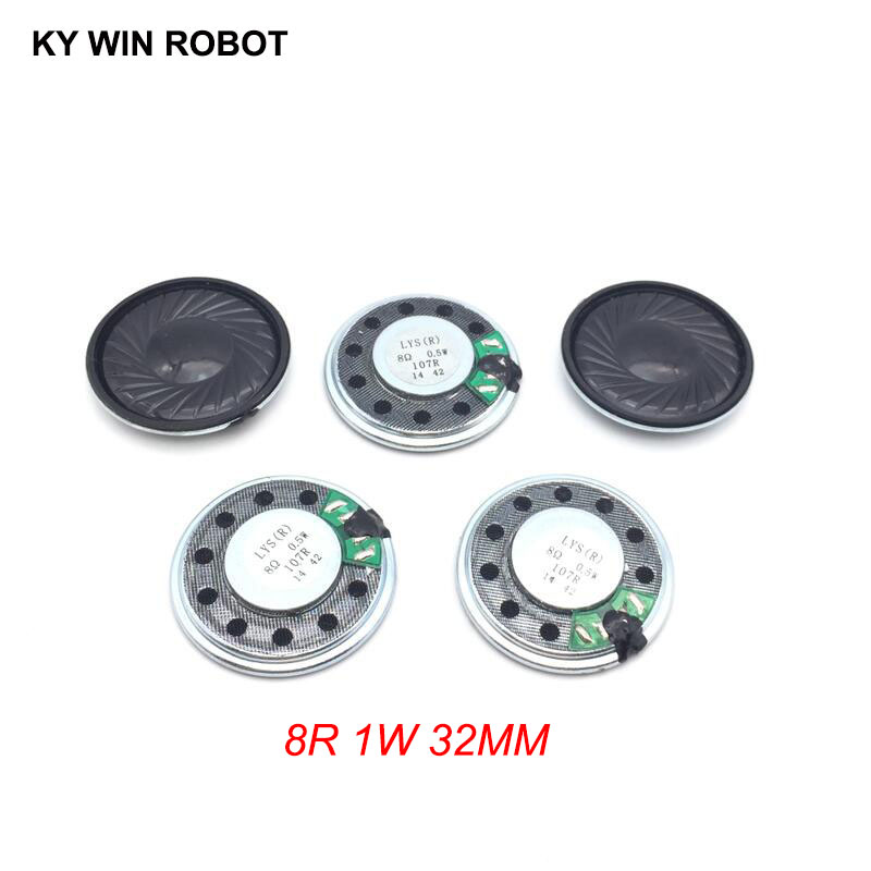 5pcs/lot New Ultra-thin Speaker 8 Ohms 0.5 Watt 0.5W 8R Speaker Diameter 32MM 3.2CM Thickness 5.2MM
