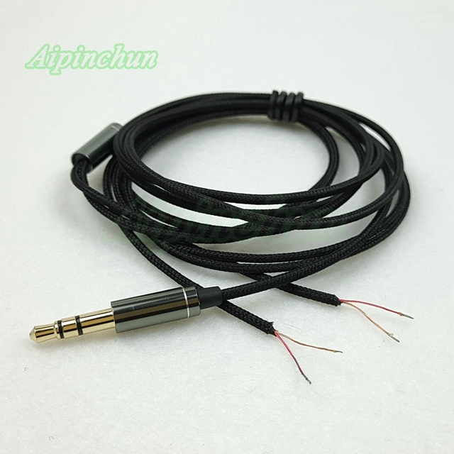 Aipinchun 3.5mm 3 Pole Jack DIY Earphone Cable Headphone Repair ...
