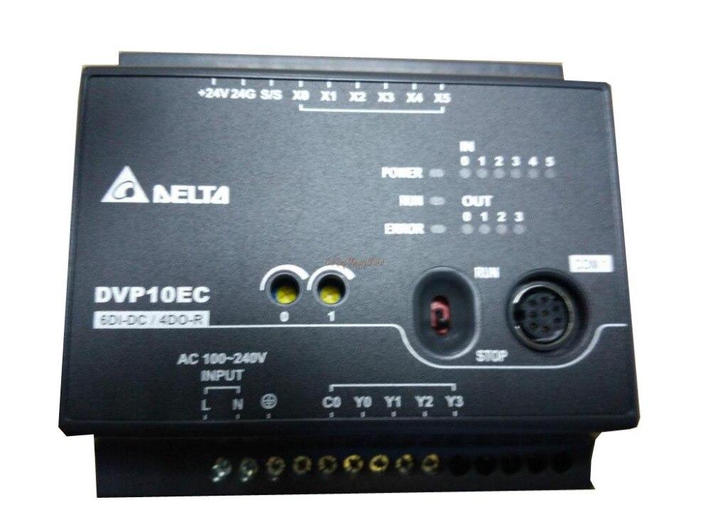 ФОТО New Original Programmable Controller Module DVP10EC00R3 PLC 100-240VAC DI6 DO4 relay output