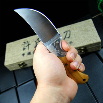 EVERRICH High quality Army Tactical Knife Camping Hunting Knife Shadow Wood Fixed Blade Knife Outdoor Survival Rescue EDC Tools 6