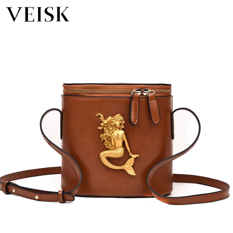 VEISK 2018 Zipper Mini Women Handbags Metal Hasp Female Shoulder Bags Fashion Women Messenger Bags Tote Briefcase
