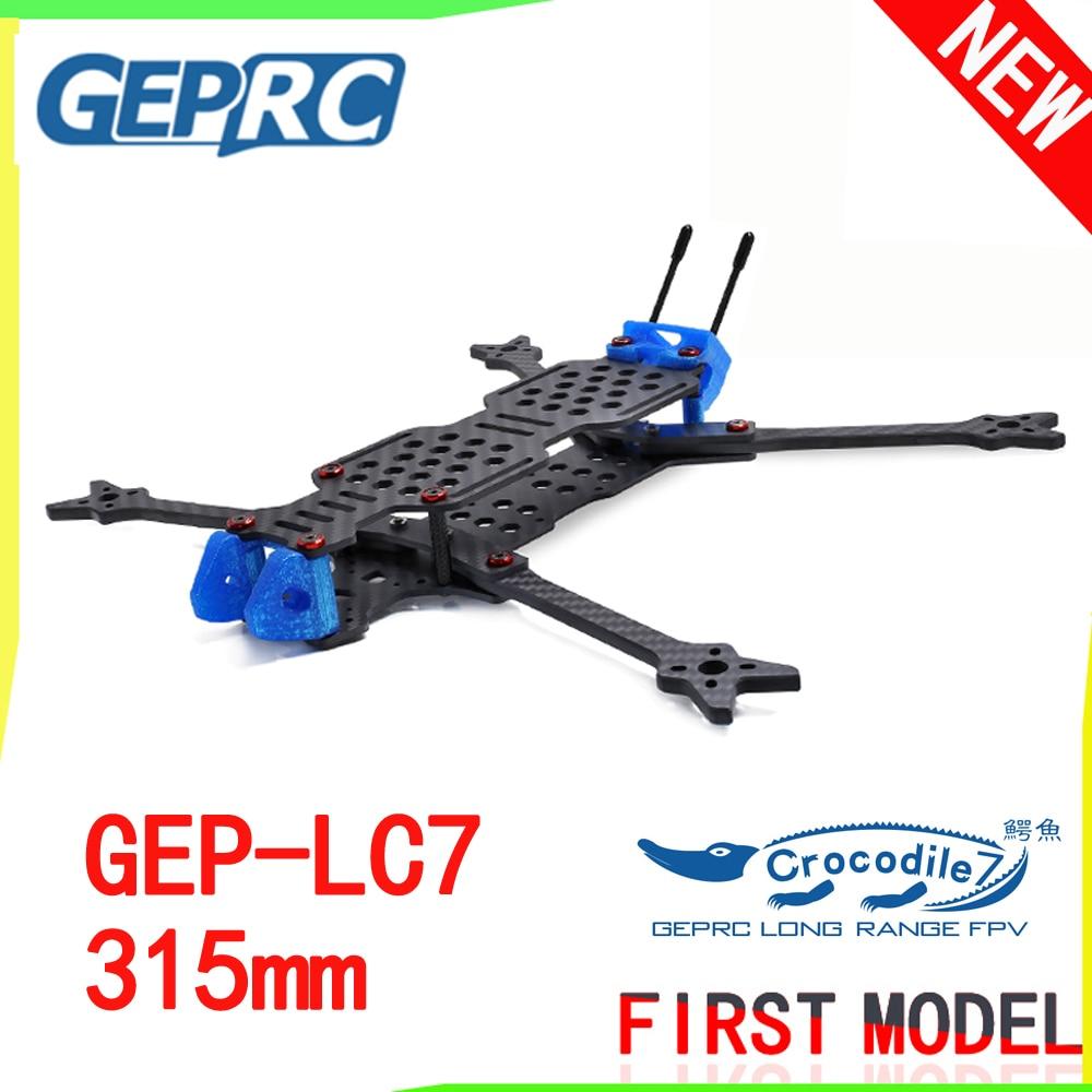 GEPRC GEP LC7 Crocodile 315mm 7 Inch 3K Carbon Fiber Frame Kit Big Space Strong Endurance