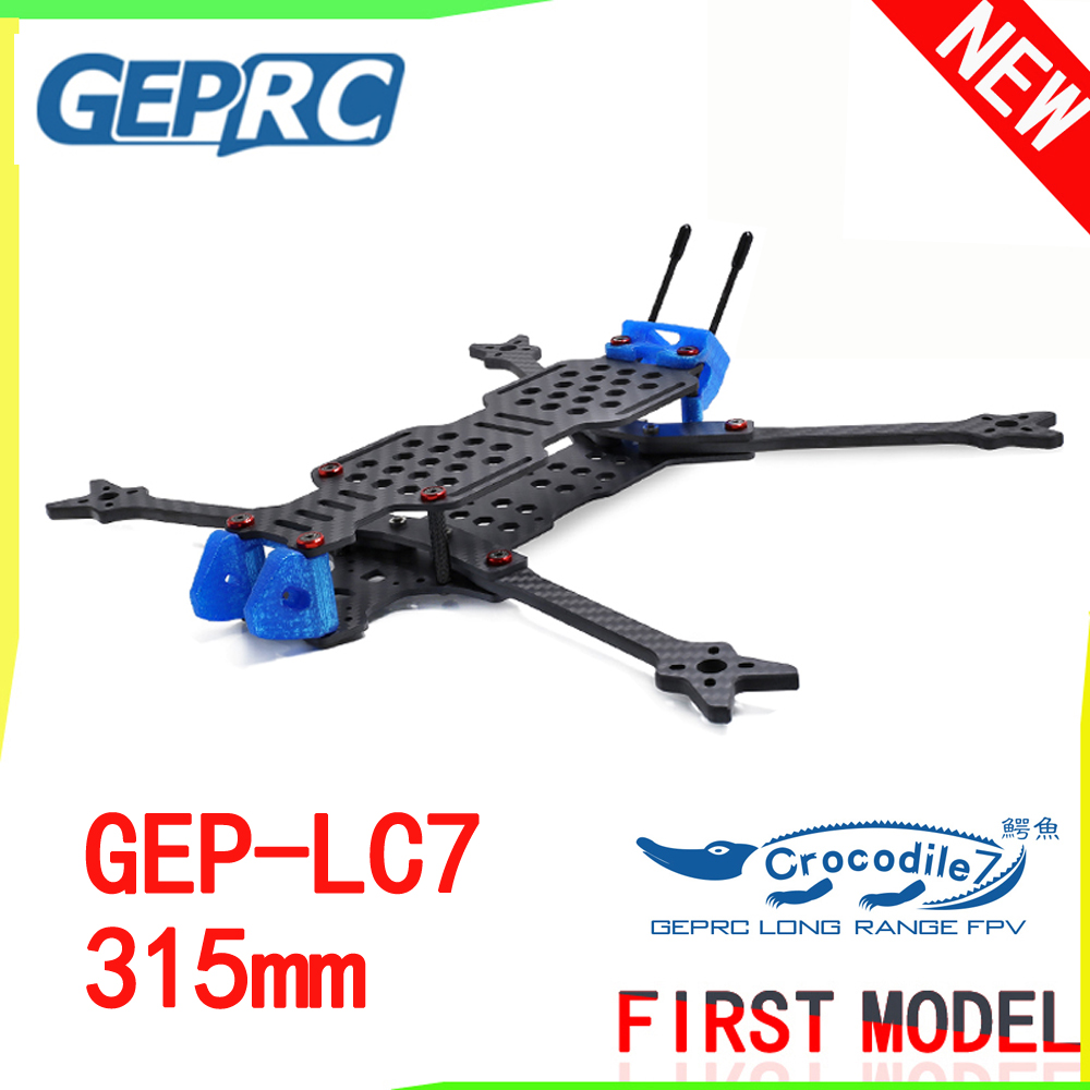 GEPRC GEP-LC7 Crocodile 315mm 7 Inch 3K Carbon Fiber Frame Kit Big Space Strong Endurance Rack for DIY FPV RC Drone Quadcopter