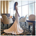 Lace Appliques Sweetheart White Mermaid Wedding Gowns 2016 Elegant Wedding Guest Dress