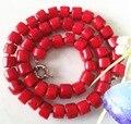 2015 (mini orden 1) Rare 8-10mm Mar Rojo Coral Collar Para Las Mujeres Joyería de Moda Perlas Naturales piedra 20 INCH Regalo del Día de San Valentín