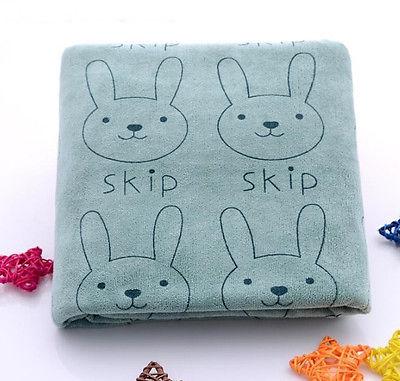 1 st Mode Cartoon Konijn Microfiber Baby Kids Strand Bad Haar Gezicht - Thuis textiel - Foto 6