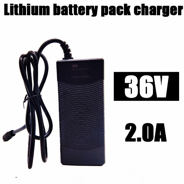 36V 2A battery charger output 42V 2A input charger 100-240VAC lithium Li-ion li-poly charger for 10 Series 36V electric bike