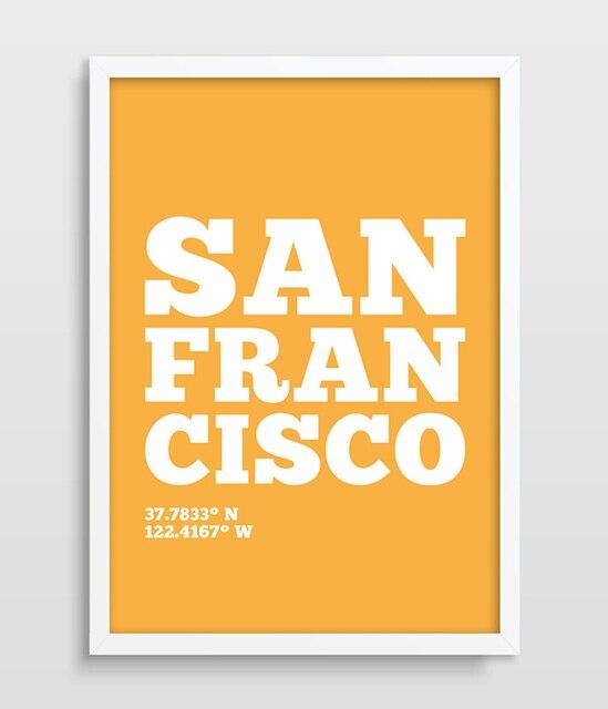 San Francisco Art Print City Print Modern wall Art Print Living Room ...