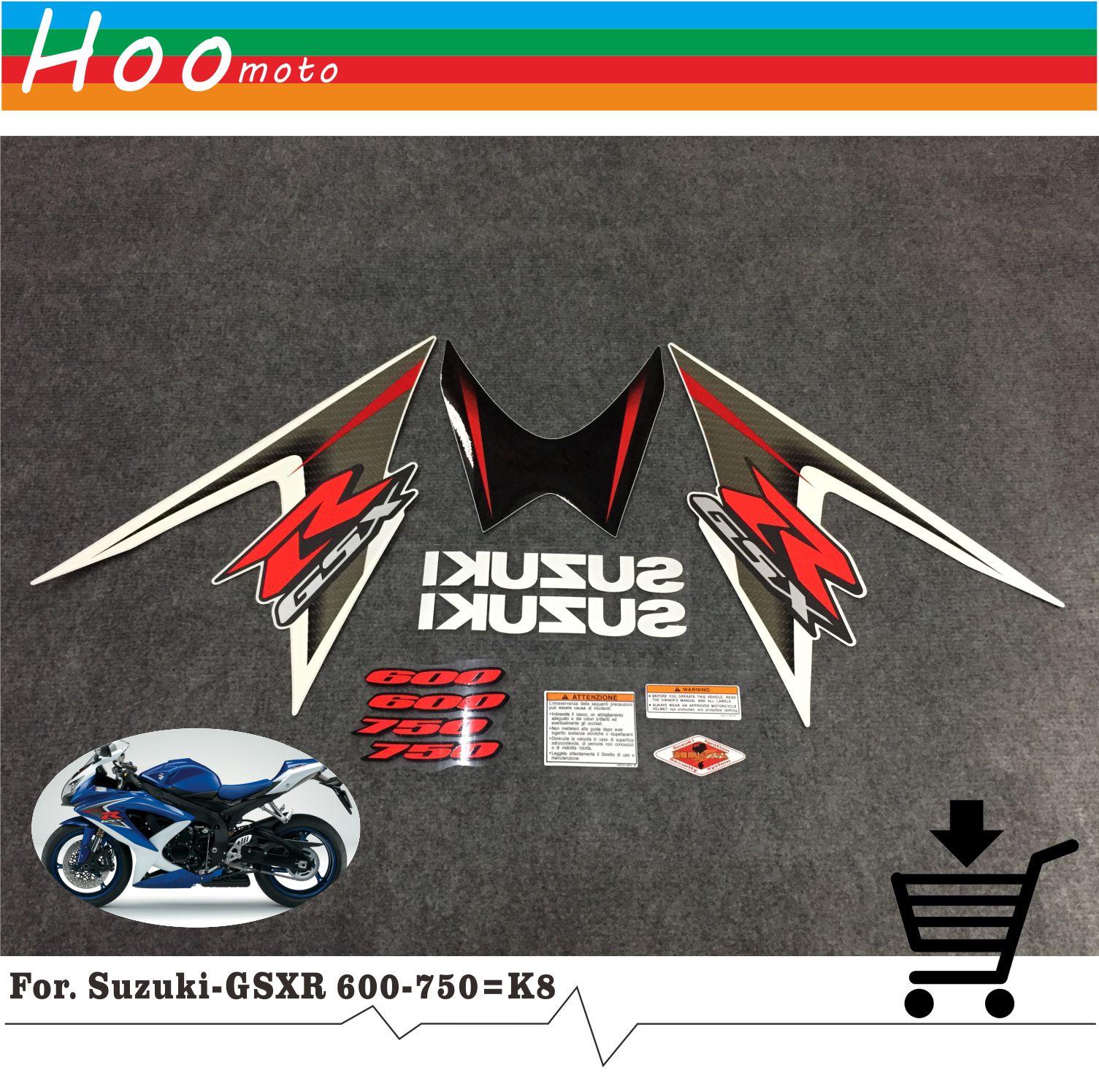 GSXR GSX-R GSX R 600 750 K8 09 лет высокое качество наклейки Стикеры мотоциклетные автомобиль-Стайлинг Стикеры s для Suzuki наклейки Стикеры MOTO