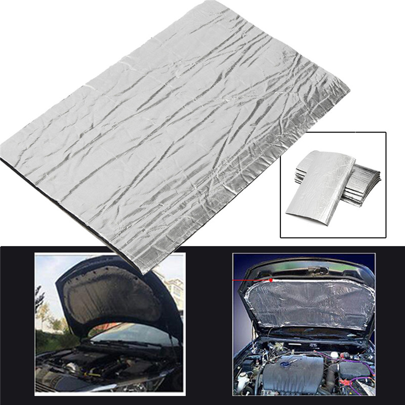 8pcs 50cm x 30cm carpet car exhaust heat shield insulation fibre in tool part - Marque electromenager haut de gamme ...