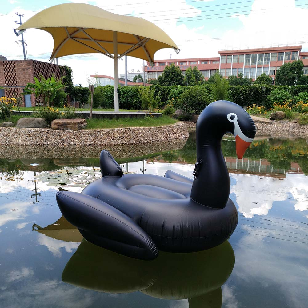 Inflatable Black Swan Pool Float Swimming Pool Ring Summer Toys For Adult Child Water Flotadores Para Piscina environmentally friendly pvc inflatable shell water floating row of a variety of swimming pearl shell swimming ring