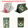 "The new nature leather case cover for Samsung galaxy tab 4 tab4 7.0 T230/ 231/T235 7"" protective tablet shell case+stylus+film"