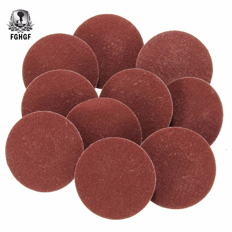 50pcs 1 Inch R Type Roll Lock Sanding Discs With Mandrel 36 60 80 120 220 Grit Abrasive Rotary Tool Sandpaper Dremel Accessories