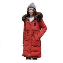 Winter Women's Jacket 2019 Warm Thicken Jacket Women Hooded Long Both Two Sides Wear Female Parkas Padded Coats Chaqueta Mujer zippered two tone hooded padded jacket