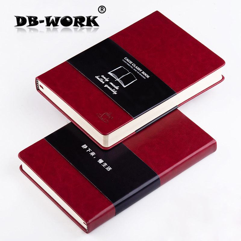 2018 A5 concise diary hardcover leather notebook can be customized logo business notebook Leather notepad calendar 2017 a5 calendar handbook of efficiency for industry and commerce business notepad log can be customized logo