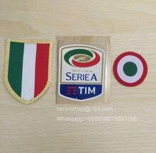 1718 Silicone Círculo remendo coppa Italia Serie A patch e Vermelho + peito Scudetto futebol remendo Crachá