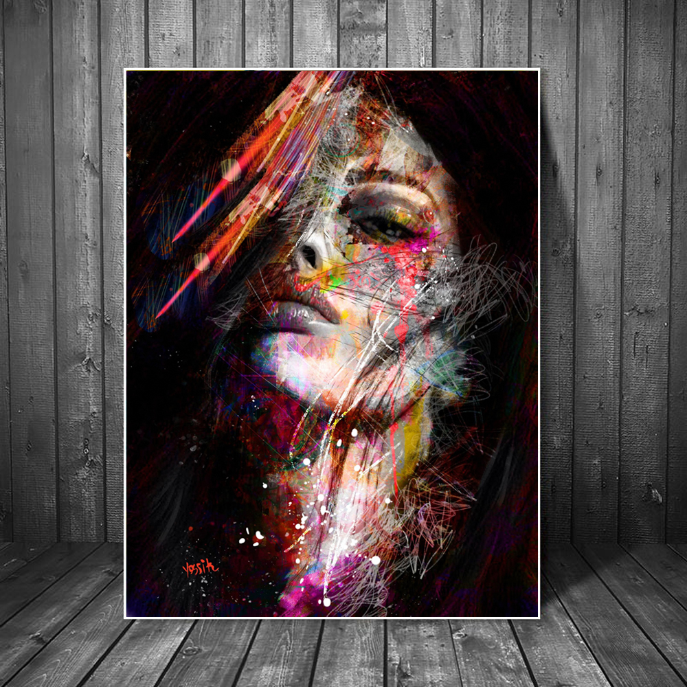 Abstract Graffiti Art Wall Paintings Print On Canvas Pop Art Canvas Prints Modern Girls Oil Paintings For Living Room Wall Decor
