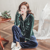 Plus Size 3XL 4XL 5XL Warm Flannel Pajamas for Women Full Length Ladies Velvet Pyjama Set 80 kg 90 Kg Can Wear Sleepwear