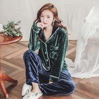 Plus Size 3XL 4XL 5XL Warm Flannel Pajamas for Women Full Length Ladies Velvet Pyjama Set 80 kg 90 Kg Can Wear Sleepwear