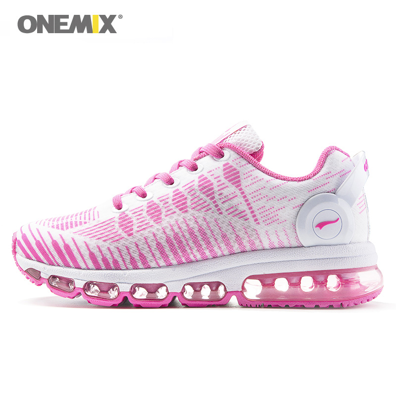 Фотография Woman Running Shoes For Women  Pink Cushion Shox Athletic Trainers Music III Sports Max Breathable Outdoor Walking Sneakers