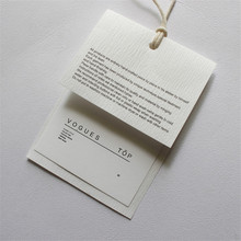 Factory Price Custom Hot Black Printing Clothing hang tags Special Card Paper Tags