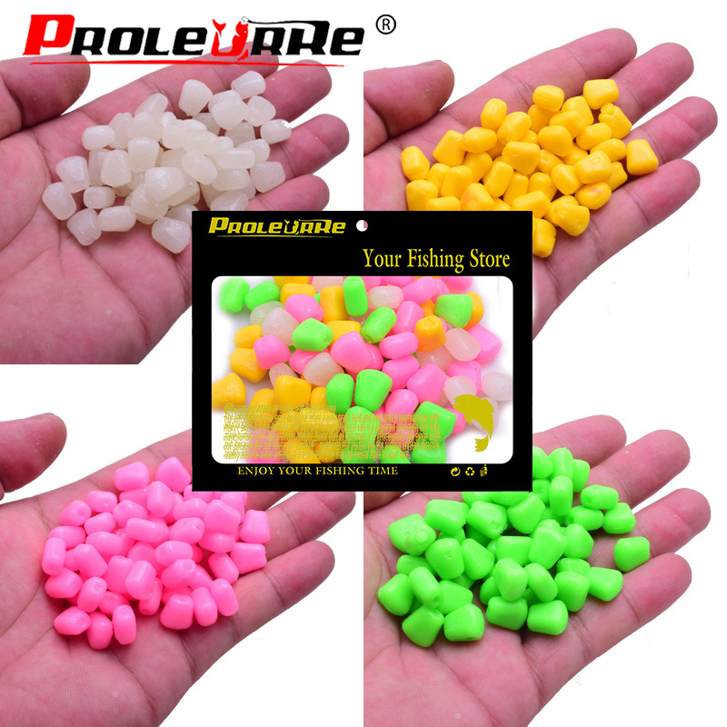High Quality 50pcs Fishing Corn Floating Boilies Flavoured Soft Lure Grass Carp Bait Artificial Silicone Soft Plastic Bait