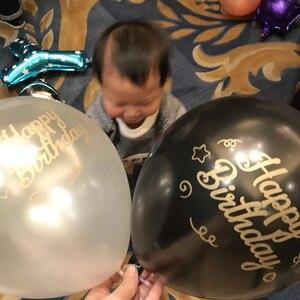 Image 4 - Złoty LOGO drukowanie niestandardowe balony logo balon drukowanie na wydarzenie promocja spersonalizowane balony
