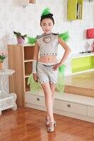 Die neue kinder jazz dance kostüme mädchen dance modern dance zeigen kinder haar