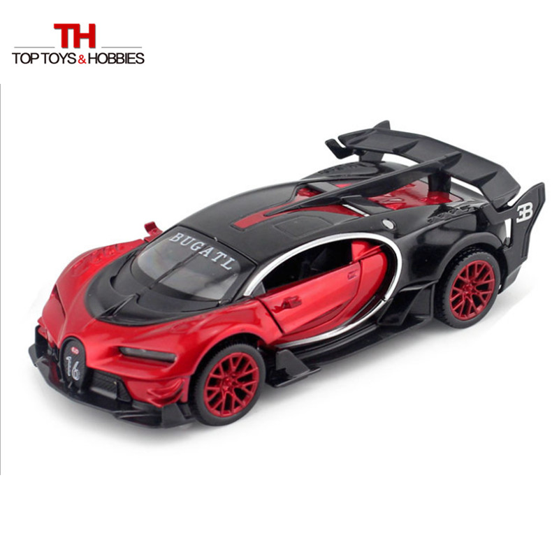 Bugatti Veyron Gt Car Model Red Blue Yellow With Sound