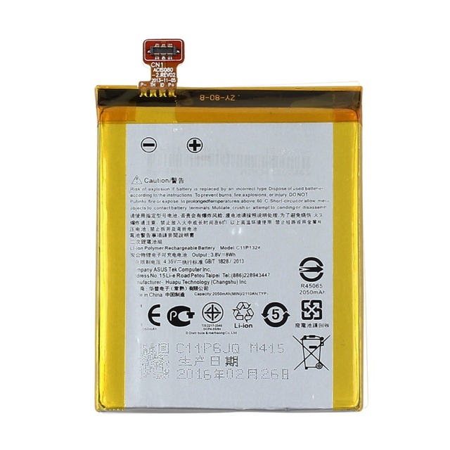 High Quality 2050mAh C11P1324 Li-ion Polymer Battery for ASUS ZenFone 5 Z5 A500G T00J Mobile Phone Battery