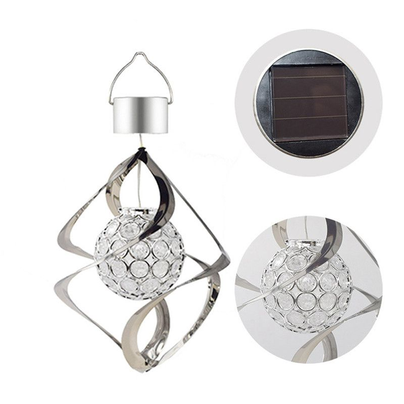 Solar Powered Wind Chimes Light Hanging LED Garden Outdoor Lamp Colour Changing Hanging Christmas Party Home Decoration Hot Sa