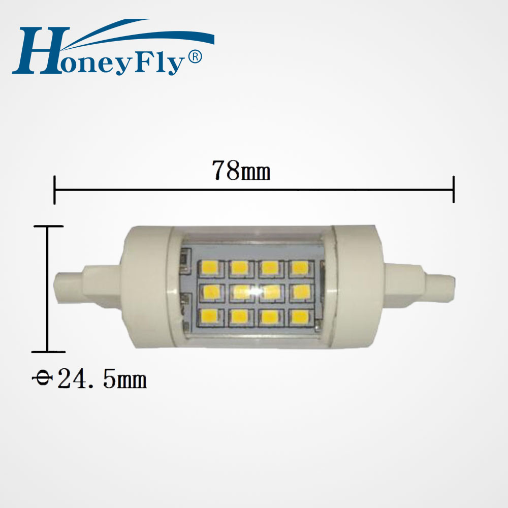 Lights & Lighting Honeyfly 2pcs R7s 78mm Led Lamp 4w 220v J78 Double Ended Led Flood Light Replace 50w Halogen Lamps Super Bright Pc Al Bulb Aromatic Flavor Light Bulbs