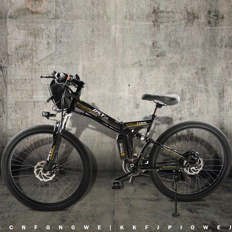Электрический велосипед мощный электрический велосипед Передняя сумка 48 В 12AH 500 Вт mountain eBike 24 Скорость Электрический велосипед России Беспл...