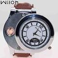 Мужские часы-зажигалка  модные повседневные кварцевые часы с зарядкой от USB F668