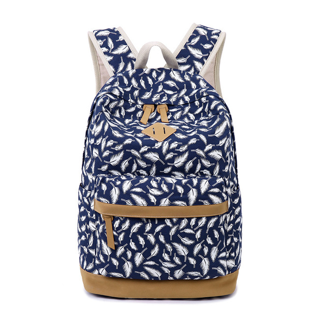 b205d9339cb US $33.83 28% OFF|Fashion Casual Laptop Girls School Bags Women Printing  Backpack School Bags For Teenage Shoulder Drawstring Bags-in Backpacks from  ...